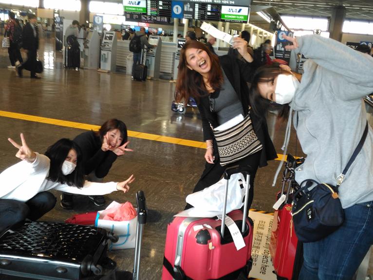 出発前の空港